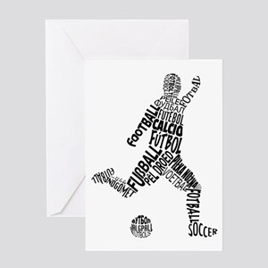 Soccer Football Languages Greeting Cards
