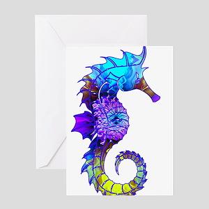 Sigmund Seahorse Greeting Cards