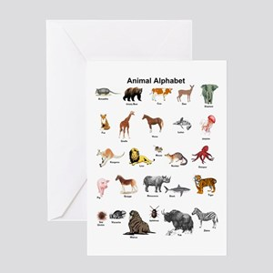 Animal pictures alphabet Greeting Card