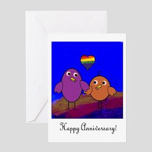 Anniversary Birds Greeting Card