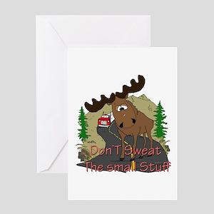 Moose humor Greeting Card