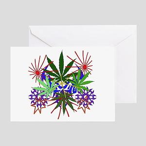 Marijuana Art Greeting Card