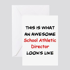 awesome school athletic director Greeting Card