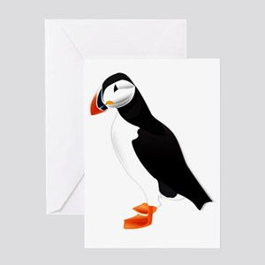 Pretty Puffin Greeting Card