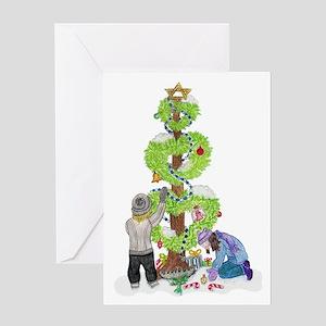 Holiday Love Tree Greeting Card