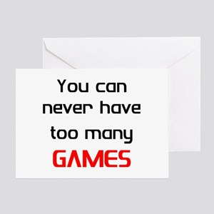 too many games Greeting Card