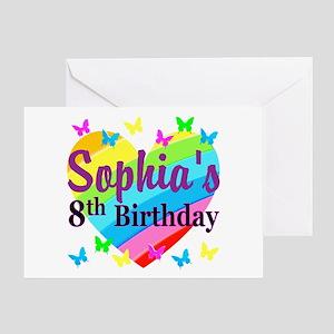 HAPPY 8TH Greeting Card