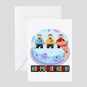 Star Trek Birthday Cake Greeting Cards