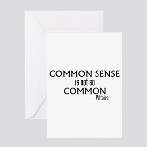 Common Sense Not So Common Greeting Card