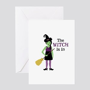 The Witch Is In Greeting Cards
