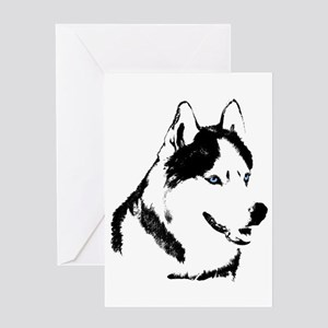 Siberian Husky Card Sled Dog Greeting Card