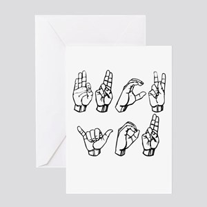 Sign Language - Fuck You Greeting Cards (Package o