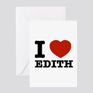 I love Edith Greeting Card