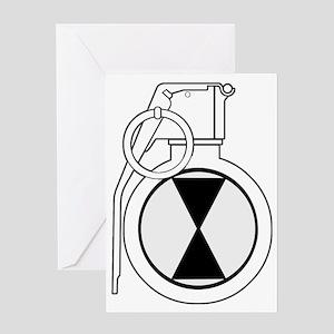 021_grenade Greeting Card