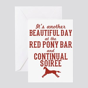 Longmire Red Pony Continual Soiree Greeting Card