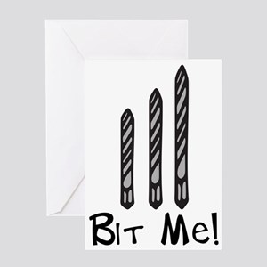 Bit Me Greeting Card