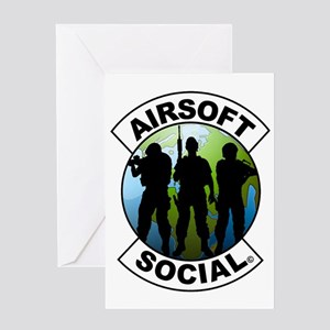 Airsoft Social logo Greeting Card
