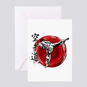 Karate Greeting Cards