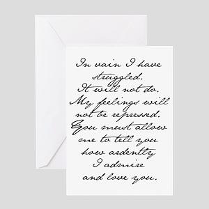 7 Jane Austen Prop... Greeting Card