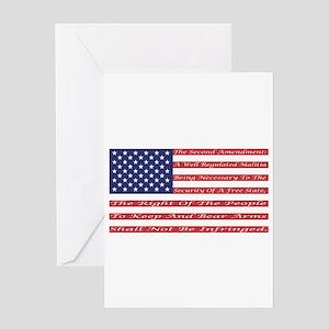 2nd Amendment Flag Greeting Card