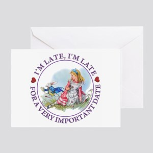 I'm Late , I'm Late, For a Very Impo Greeting Card