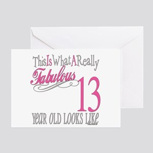 13th Birthday Gifts Greeting Card