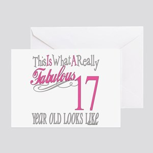 17th Birthday Gifts Greeting Card