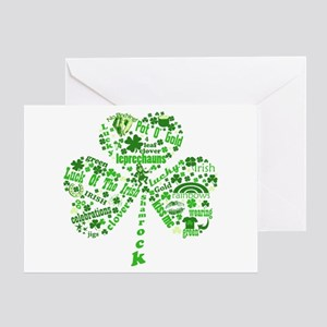 St Paddys Day Shamrock Greeting Card