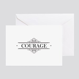 Courage Calligraphy Greeting Card