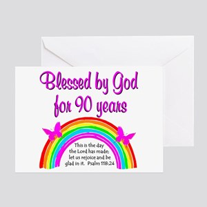 PRECIOUS 90TH Greeting Card