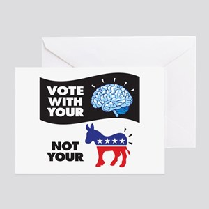 Vote With Your Brain Card Greeting Cards