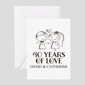 40th Wedding Anniversary Personalized Greeting Car