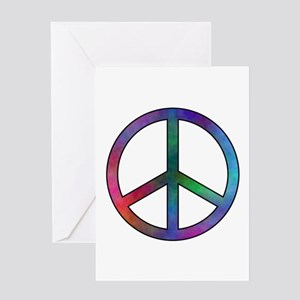 Multicolor Peace Sign Greeting Card