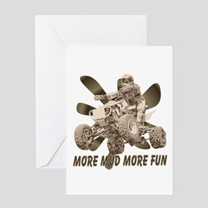 More Mud More Fun on an ATV Greeting Card