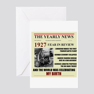 Born In 1927 Birthday Gift Card Greeting Cards