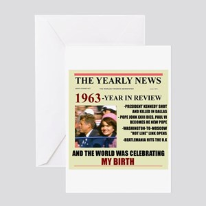born in 1963 birthday gift Greeting Card