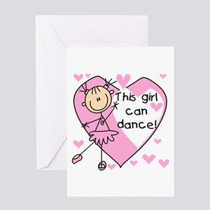 This Girl Can Dance Greeting Card