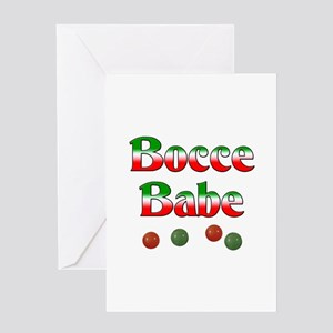 Bocce Babe Greeting Card