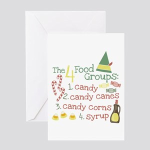 The 4 Food Groups Greeting Card
