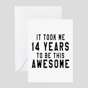 14 Years Birthday Designs Greeting Card