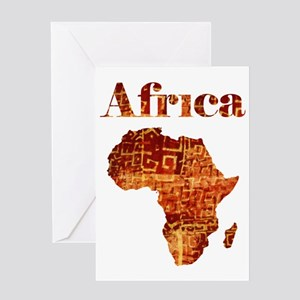 Ethnic Africa Greeting Cards