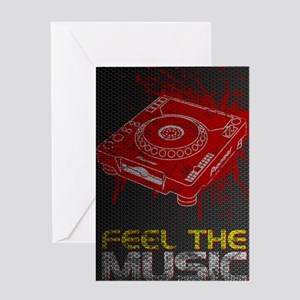 Feel The Music Pioneer CDJ Poster Greeting Card