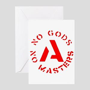 No Gods No Masters Greeting Card