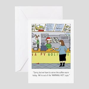 Warm Coffee Holiday Cartoon Greeting Card