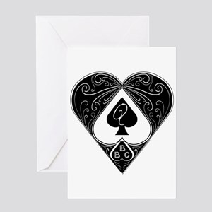 Bbc & Queen Of Spades 2 Greeting Cards