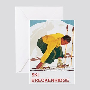 Ski Breckenridge Co Greeting Card