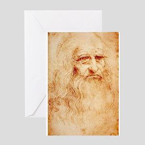 Self protrait of Leonardo Da Greeting Card