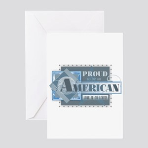 Proud to be an American Greeting Cards