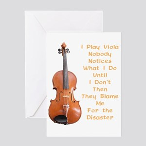 I Play Viola Greeting Card