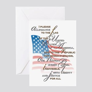 US Pledge - Greeting Card